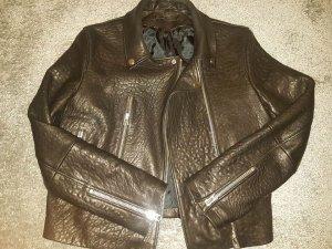 Lederjacke aus schwerem, geprägtem Leder direkt aus London neu