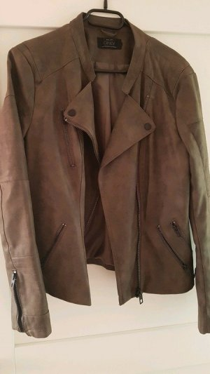 Only Leather Jacket brown-grey brown