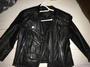 Fashion New York Leren jack zwart