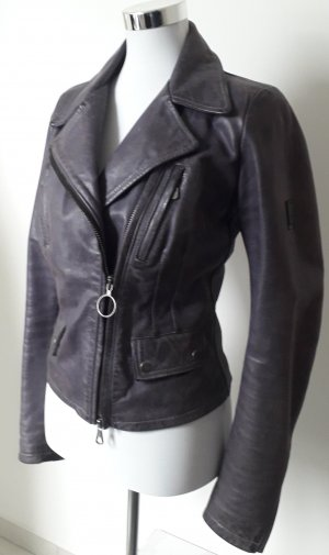 Belstaff Leather Jacket dark violet