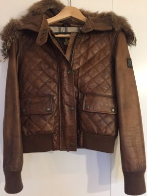 Belstaff Leather Jacket black brown-brown