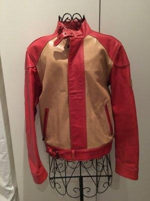 Belstaff Veste motard crème-rouge clair cuir