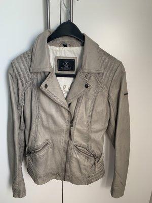Leather Jacket light grey-grey