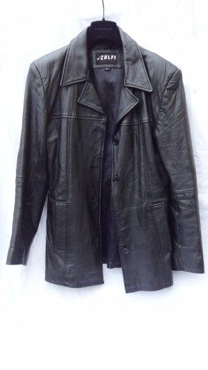 Veste en cuir noir cuir