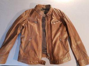Lederjacke Bikerjacke Oakwood braun cognacfarben XXL / 44