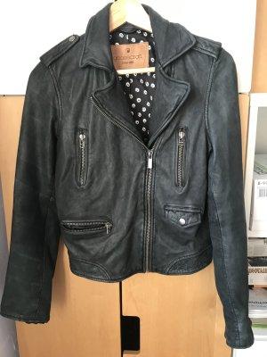 Goosecraft Giacca da motociclista nero Pelle
