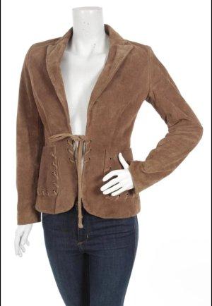 Lederjacke blazer von Zara gr. S 100 % wildleder