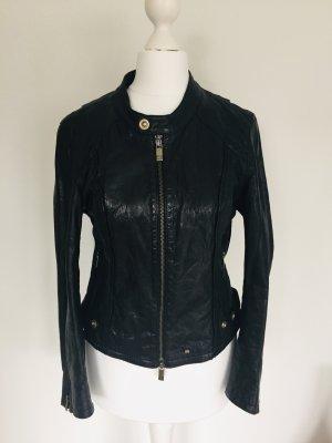 Boss Orange Leather Jacket black