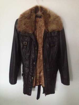 Cabrini Leather Jacket brown red