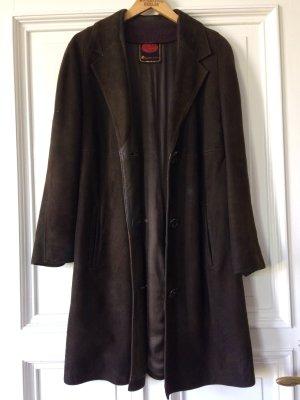 Lederjacke Braun Albacken Sweden Leather Suede Coat Jacket Vintage Wildleder