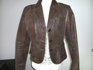 Street One Leather Blazer bronze-colored leather