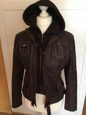 Jilani Leather Jacket dark brown
