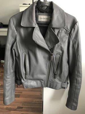 Calvin Klein Veste en cuir gris