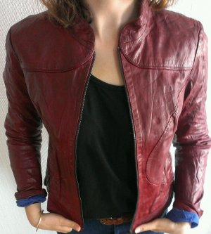 Lederjacke, Campus by Marc O Polo, bordeaux rot