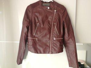 Ci Sono By Cavalini Leather Jacket bordeaux