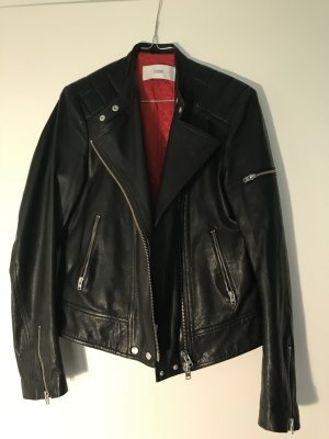 Closed Veste motard noir cuir