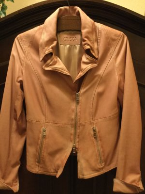 Crisca Biker Jacket salmon leather
