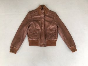 David Moore Leather Jacket brown
