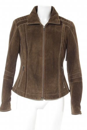 Lederjacke dunkelbraun Country-Look