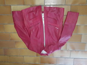 Avitano Veste en cuir rouge foncé