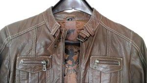 Lederjacke | Echtleder | selten getragen | Cocholate/Sienna | Gipsy | Größe M