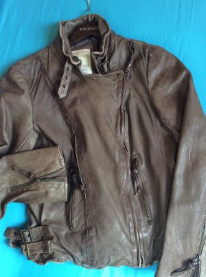 Esprit Leather Jacket grey brown leather