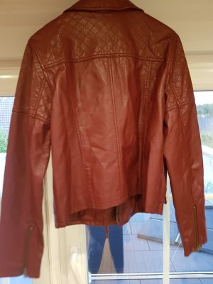 American Eagle Outfitters Leather Jacket carmine-bordeaux