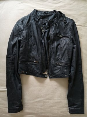Amisu Leather Jacket black