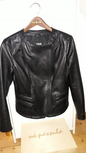 Stand Leather Dress black