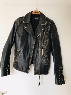 Biker Jacket black brown leather