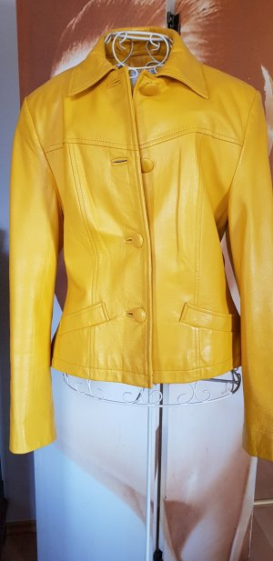 Alba Moda Leren jack geel