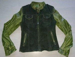 Lederjacke Gipsy grün Größe XS
