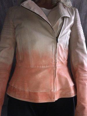 Brandalism Leather Jacket cream-light orange