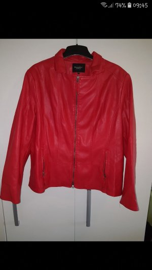 Bexleys Faux Leather Jacket red