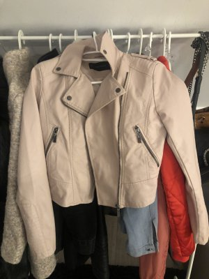 Topshop Biker Jacket rose-gold-coloured