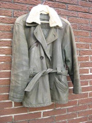 E.B. Company Leather Jacket multicolored leather