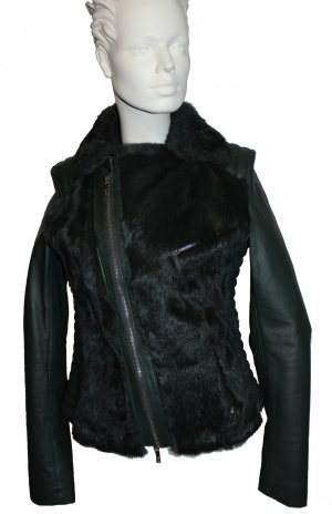 Arma Collection Veste en cuir vert foncé cuir