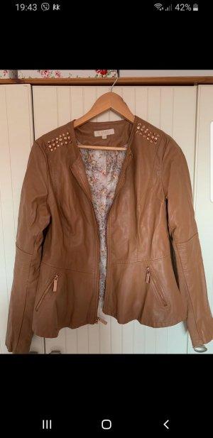 Guess Faux Leather Jacket cognac-coloured