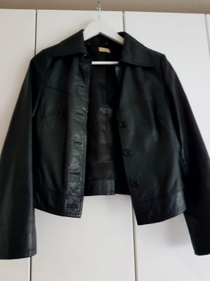 Lederjacke H&M schwarz 38