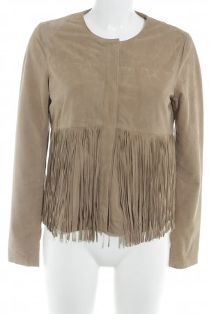 Leather Jacket light brown casual look