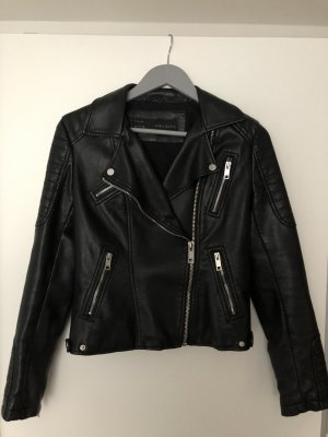 Zara Biker Jacket black imitation leather