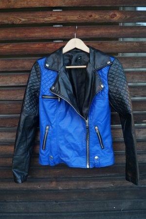Lederjacke in blau schwarz von Tally Weijl