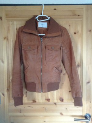 Lederjacke in Cognac von ONLY