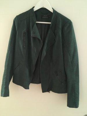 Lederjacke in dunkelgrün von ONLY