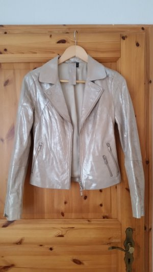 Lederjacke in gold