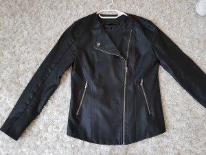Esmara Veste en cuir noir