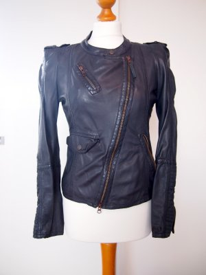 Lederjacke in Midnight blau von Drykorn