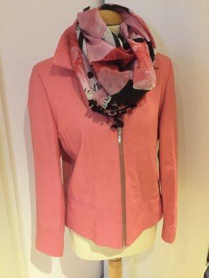 Lederjacke in Rosé aus weichem Leder