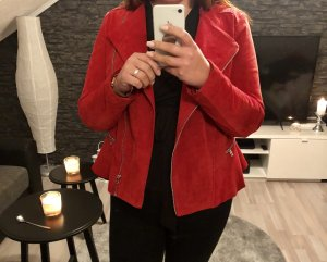 Lederjacke in rot