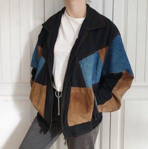Lederjacke Jeansjacke Leder Jeans Jacke Oversize True Vintage Mantel XL L